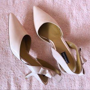 Jaggar Pink Patent Kitten Heels